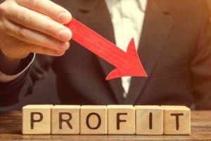 Roter Pfeil zeigt auf das Wort Profit